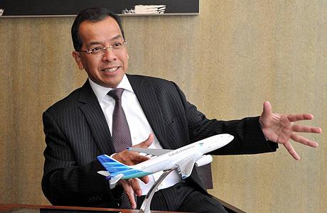 Presiden Direktur Garuda Indonesia Emirsyah Satar