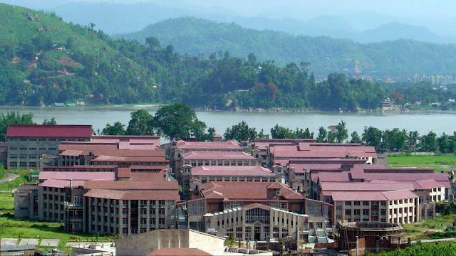 IIT Guwahati on the bank of river Brahmaputra