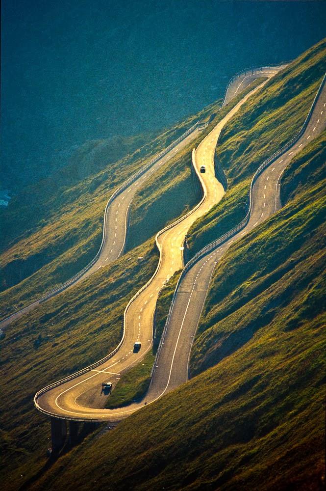 Furka Pass in Switzerland
