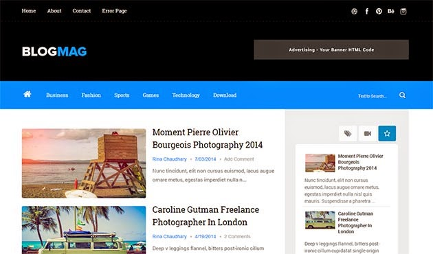 blogmag clean responsive blogger template themexpose