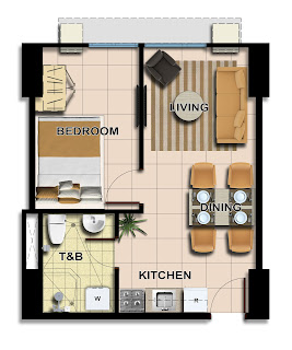 Avida Towers Centera Tower 3 One Bedroom Unit Plan