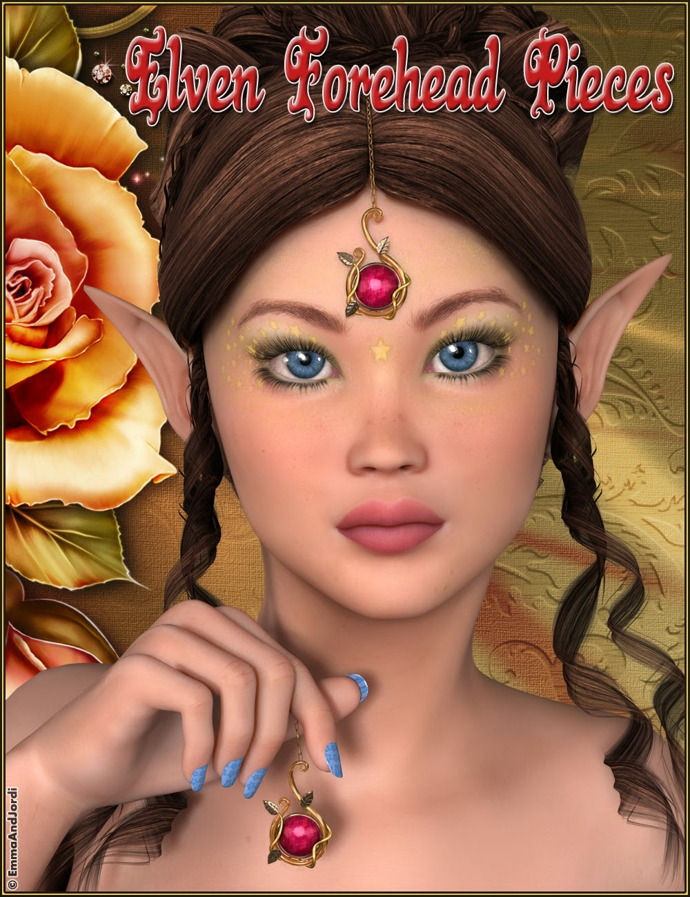 http://www.daz3d.com/elven-forehead-pieces-for-any-figure