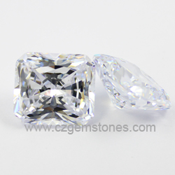 radiant cut white cubic zirconia wholesale