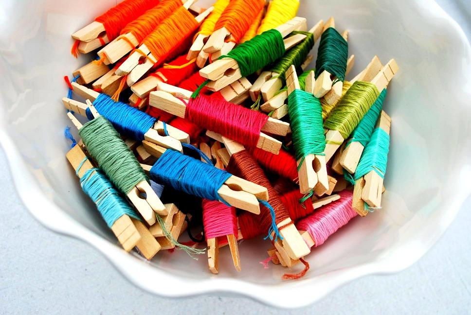 Mrs jones organizing embroidery floss