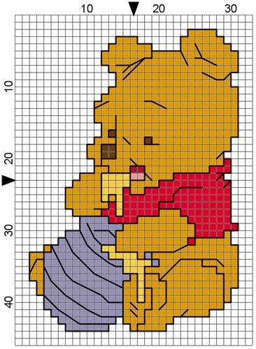 punto croce - raccolta cartoni animati, biancaneve topolino, pippo e