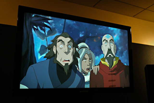 Book 2 Scene Tenzin Bumi and Kya of Legend of Korra