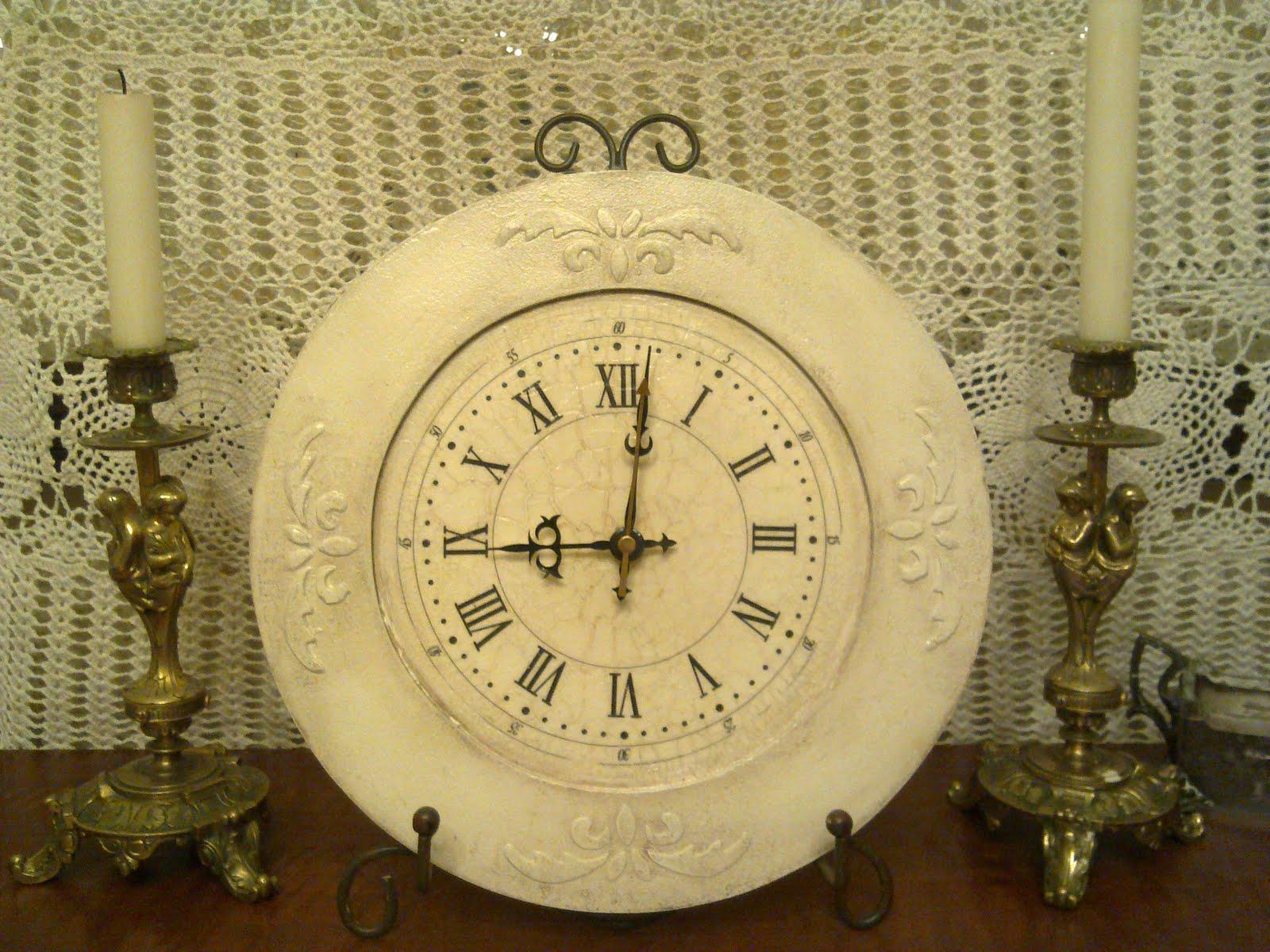 Винтажные настенные часы своими руками 34
