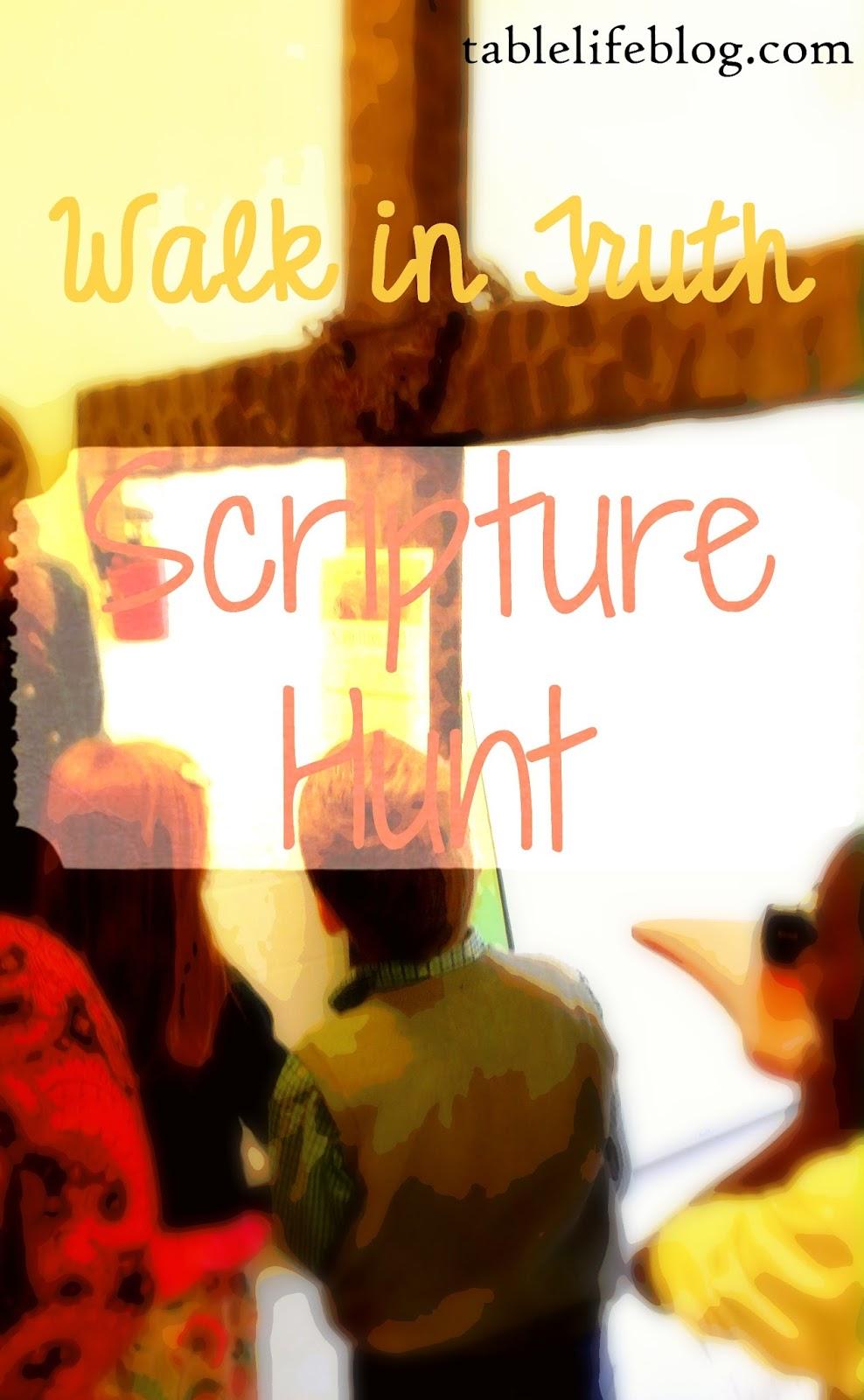 Walk in Truth Scripture Hunt Children's Ministry Family Kidmin Scavenger Hunt free activity
