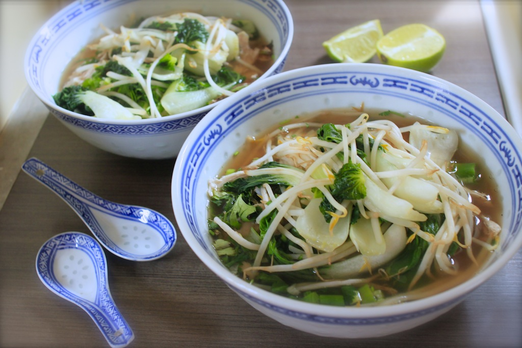 Pho ga (Vietnamese chicken noodle soup) — Nutmegs, seven