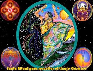 Uds. y Yo estamos en Alianza Sagrada y es hora de celebrar el Santo Ritual para resucitar nuestro Linaje Cósmico.