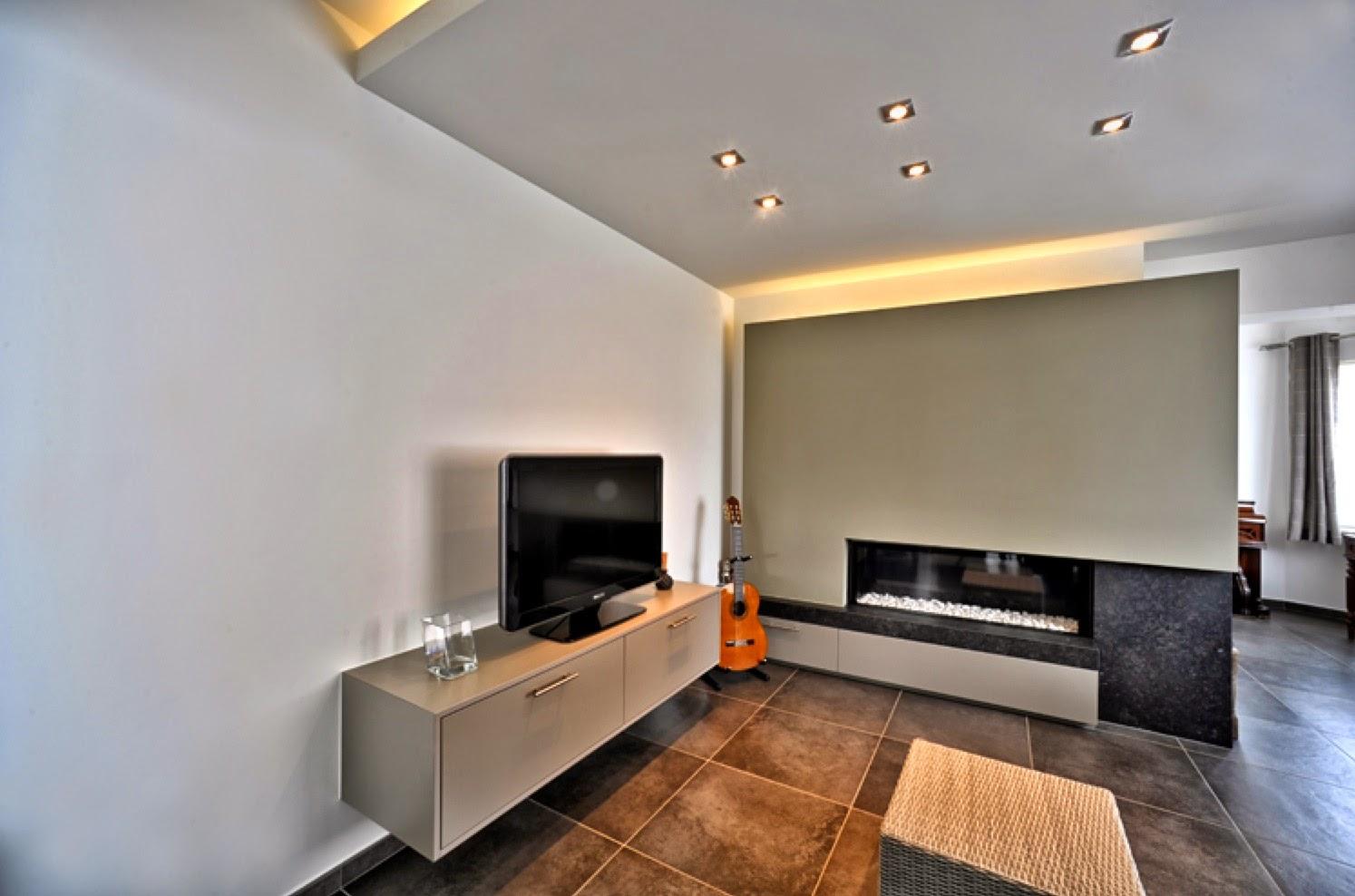 Realisaties interieur woon en eetkamers interieurbouw claesen gunther bilzen - Interieur decoratie modern hout ...