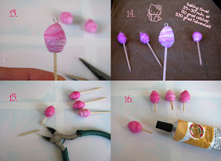 Polymer clay cotton candy tutorial 4