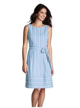 Women's Clothing - Sleeveless Dobby Dress