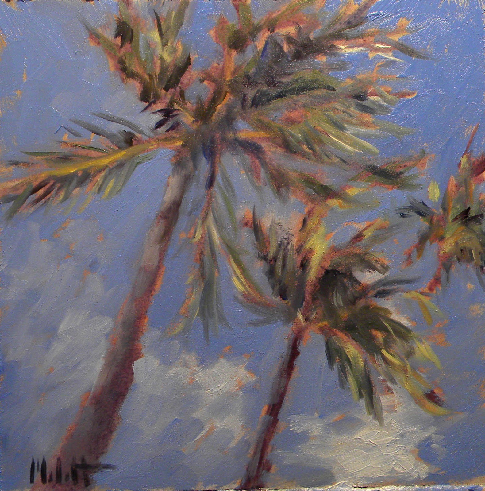 Heidi malott original paintings palm trees beach for Painting palm trees