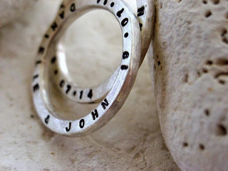 personalised silver rings handmade