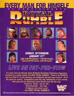 WWF / WWE Royal Rumble 1990 - Event poster