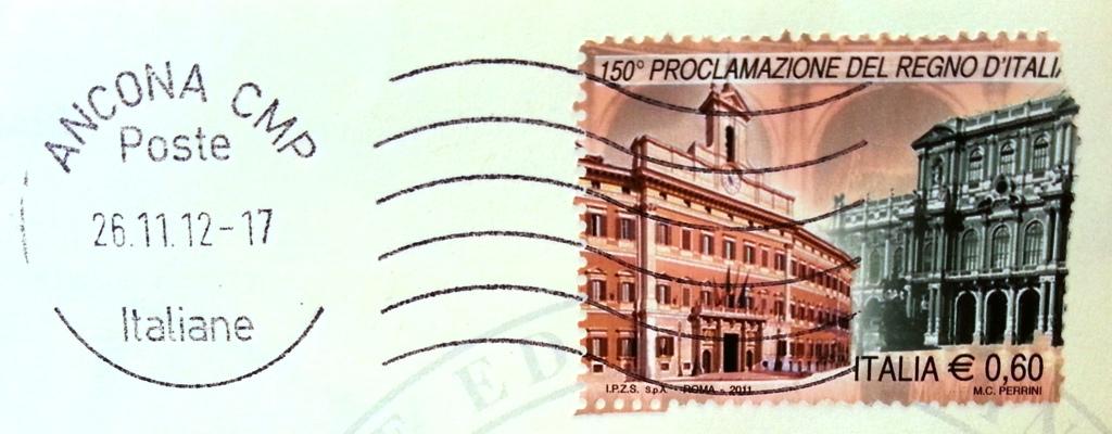 francobollo 150° Proclamazione del Regno d'Italia