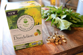 Traditional Medicinals Dandelion leaf and root tea.  Get the health benefits of dandelions from drinking a daily cup of dandelion tea.