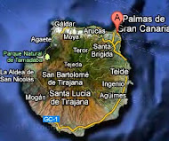Las Palmas de Gran Canaria on the Map