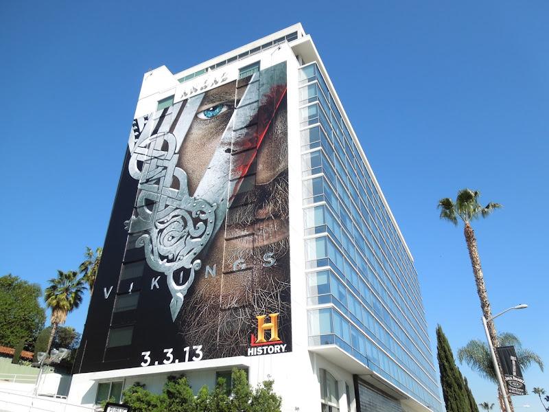 Giant Vikings series premiere billboard