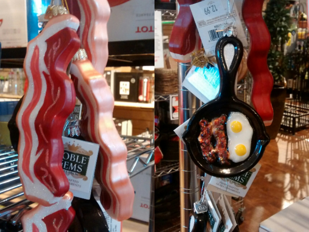 Hope is the thing with feathers budweiser christmas lights for Bacon christmas tree decoration