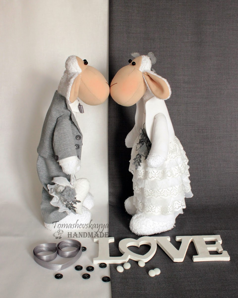 Свадебная пара. Овечки тильды