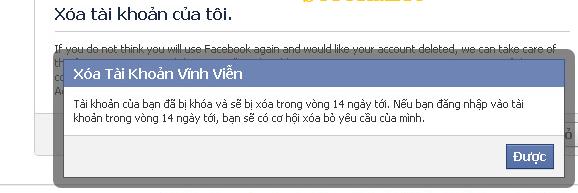Xóa nick Facebook vĩnh viễn