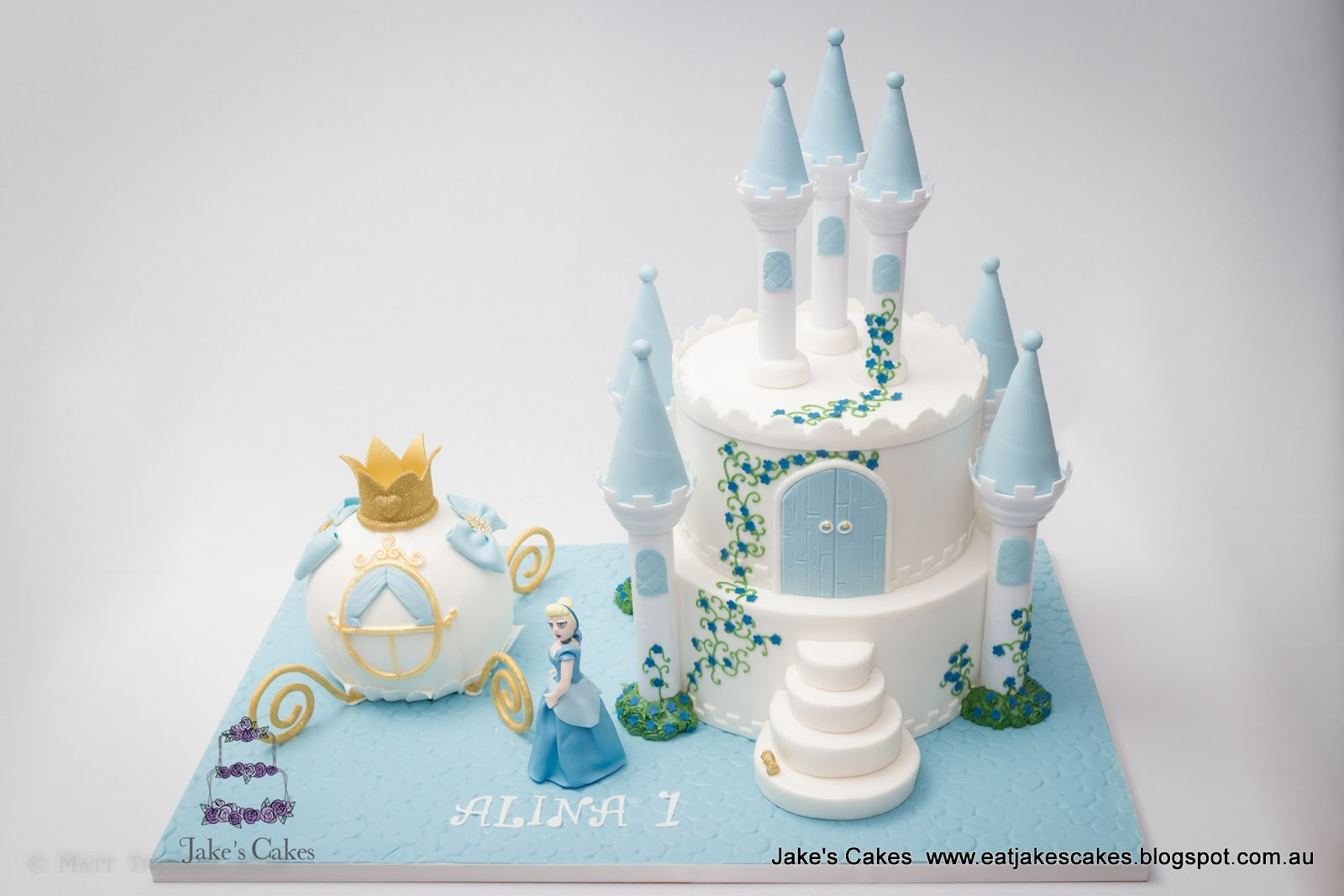 Jakes Cakes Cinderella Castle and Carriage Cake