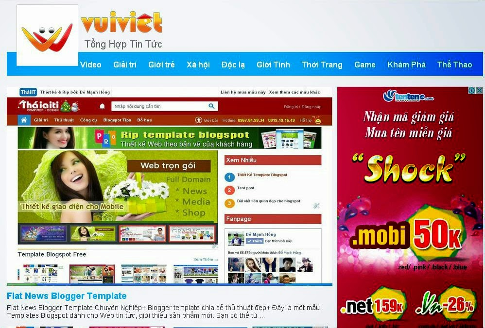 Share Giao Diện Blogspot Vui Việt