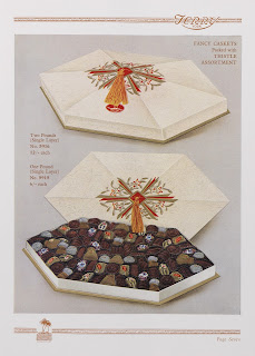 Image of a large box of Terry's chocolates with orange details 1929