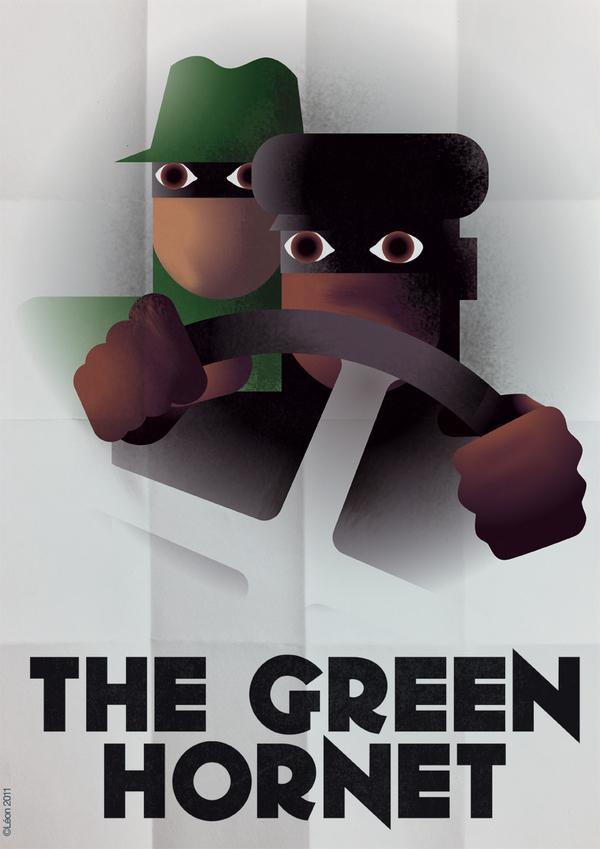 The Green Hornet Art Deco