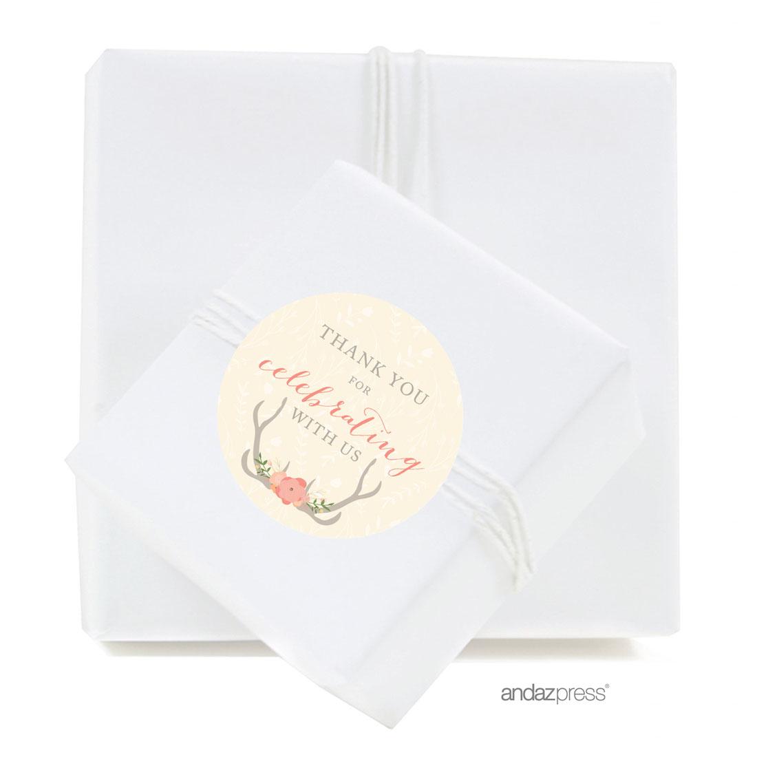 Andaz Press Woodland Deer Wedding Collection, Chocolate Drop Label ...