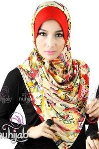 Nuhijab IBF - Red (Toko Jilbab dan Busana Muslimah Terbaru)