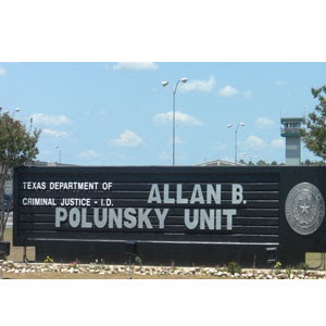 Front entrance of the Polunsky Unit in Livingston.