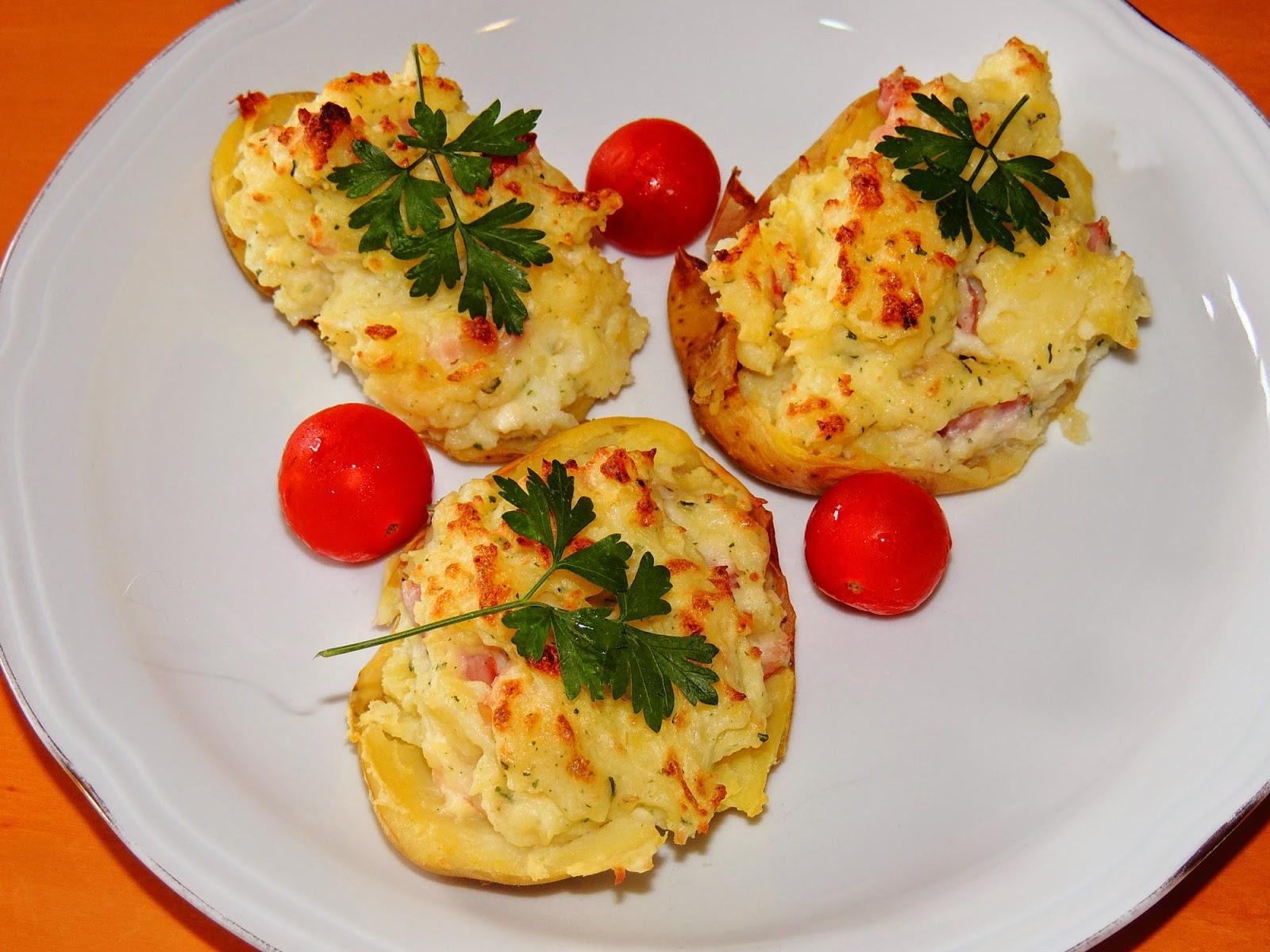 El placer de cocinar patatas asadas rellenas de queso de Cocinar queso de cabra