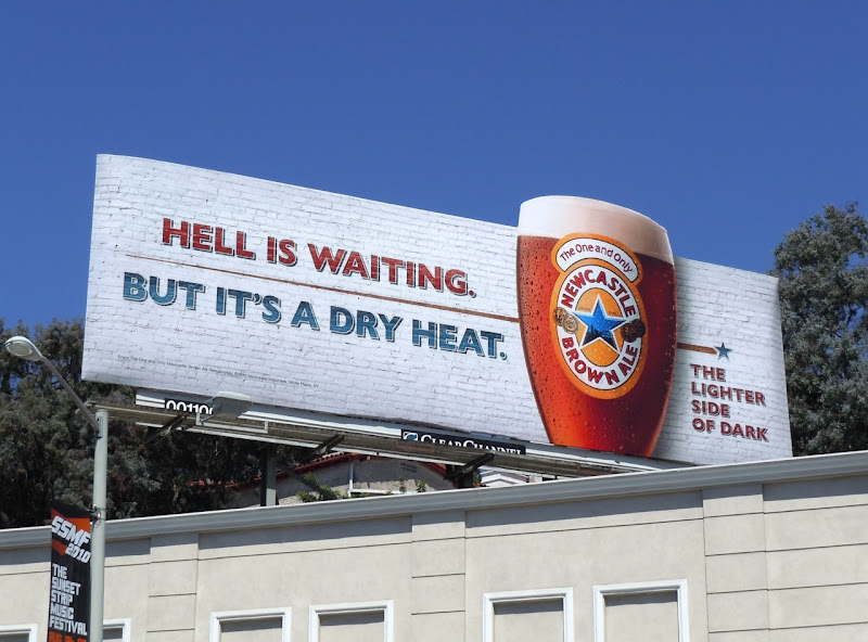 Hell is waiting Newcastle Brown special extension billboard