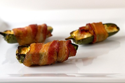 Cream Cheese-Stuffed Bacon-Wrapped Jalapeños