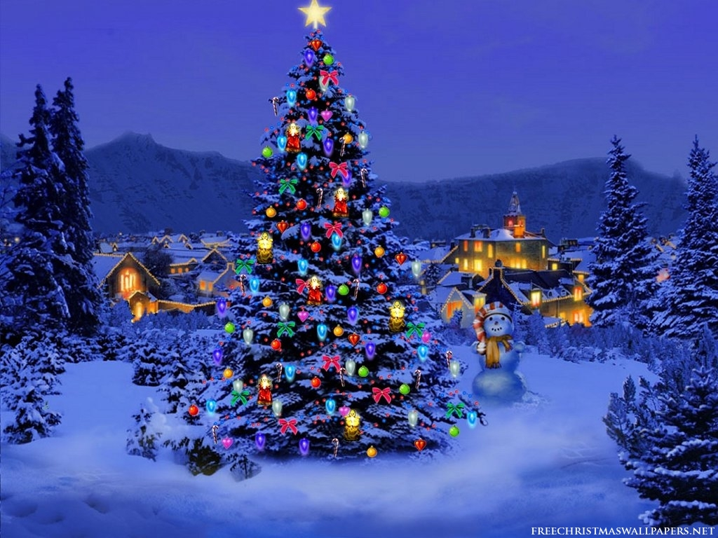 Photo trick christmas tree wallpaper for desktop for Pretty christmas pics