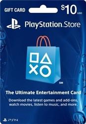 $10 Playstation Network (PSN) Gift Card