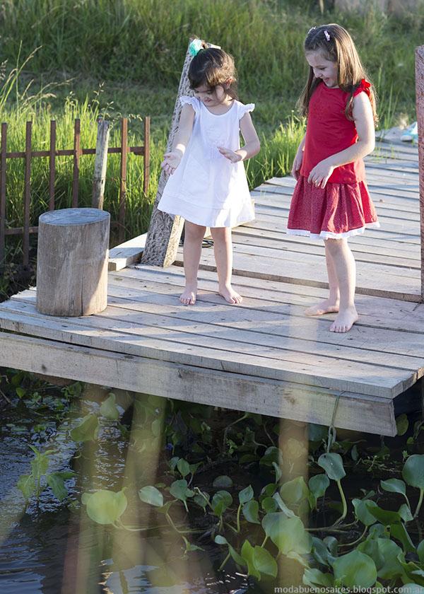 Vestidos y faldas verano 2016 niñas. Moda infantil primavera verano 2016.