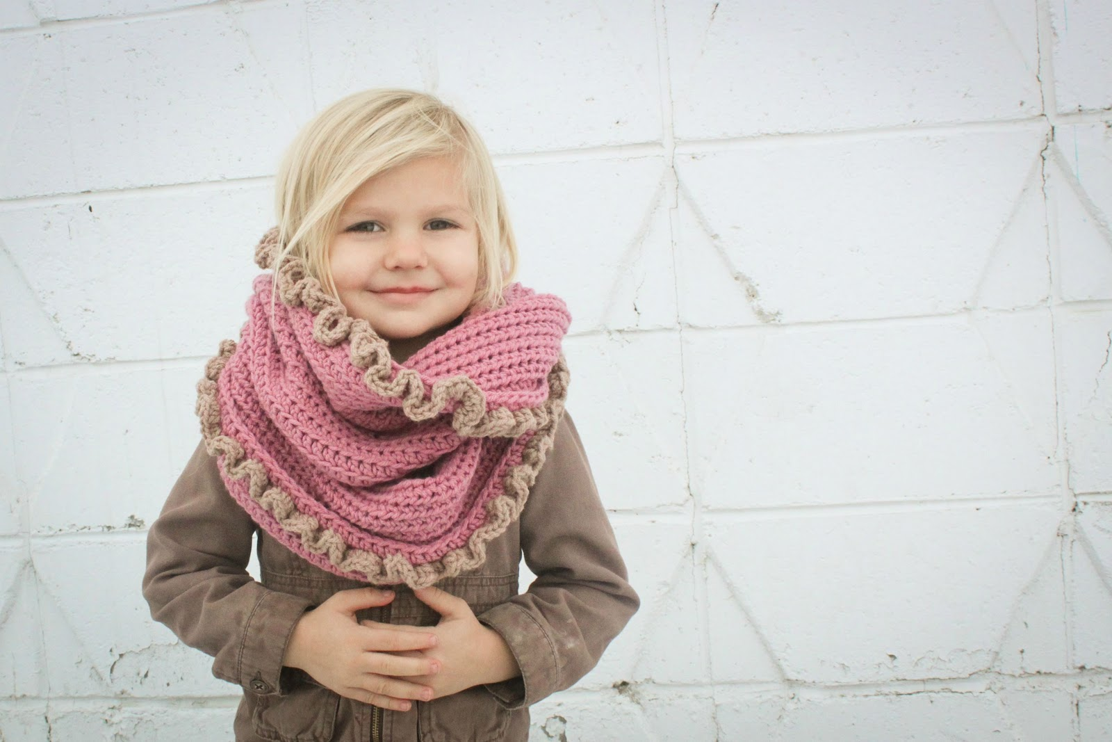 Crochet For Free: Loopy Hood Scarf with or with/out Ruffles ...