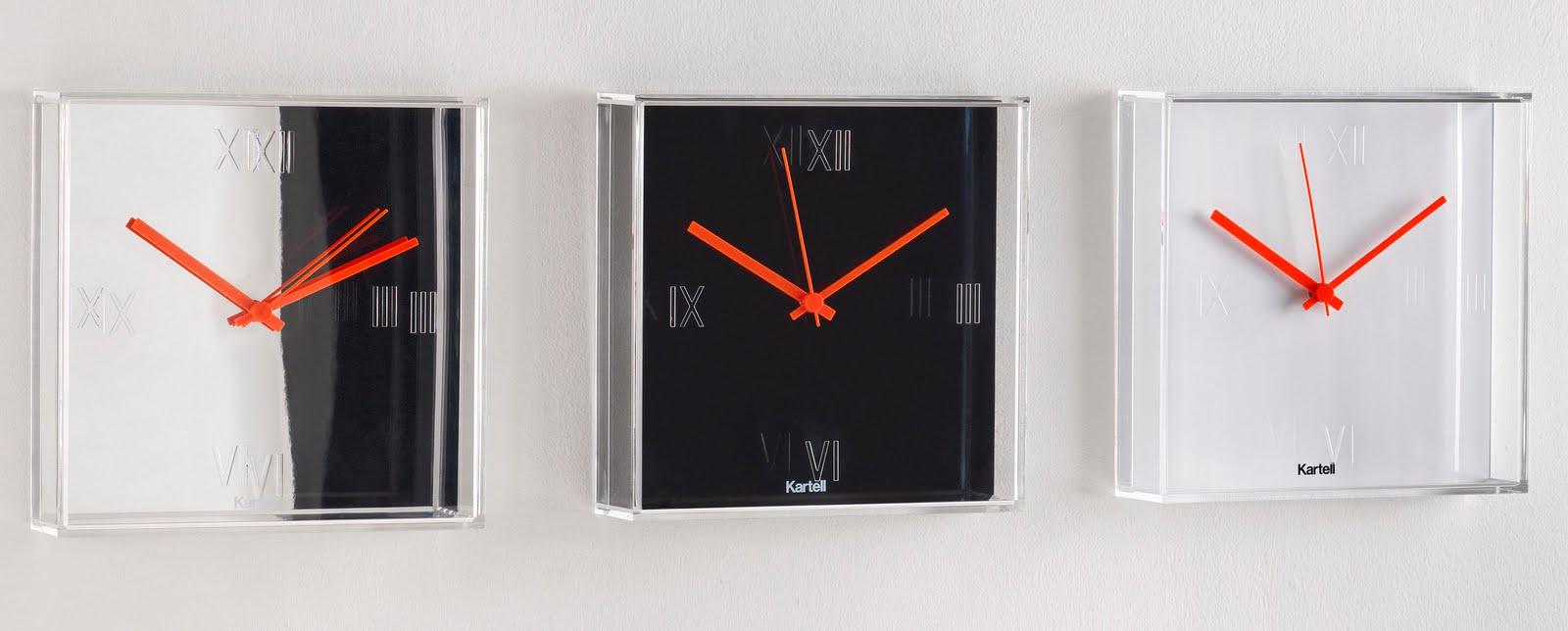 modern interior design tic  tac square modern wall clock by  - tic  tac square modern wall clock by philippe starck for kartell  tic tacclock (chrome)