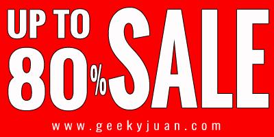 Gadget District Sale - 80% | Geeky Juan