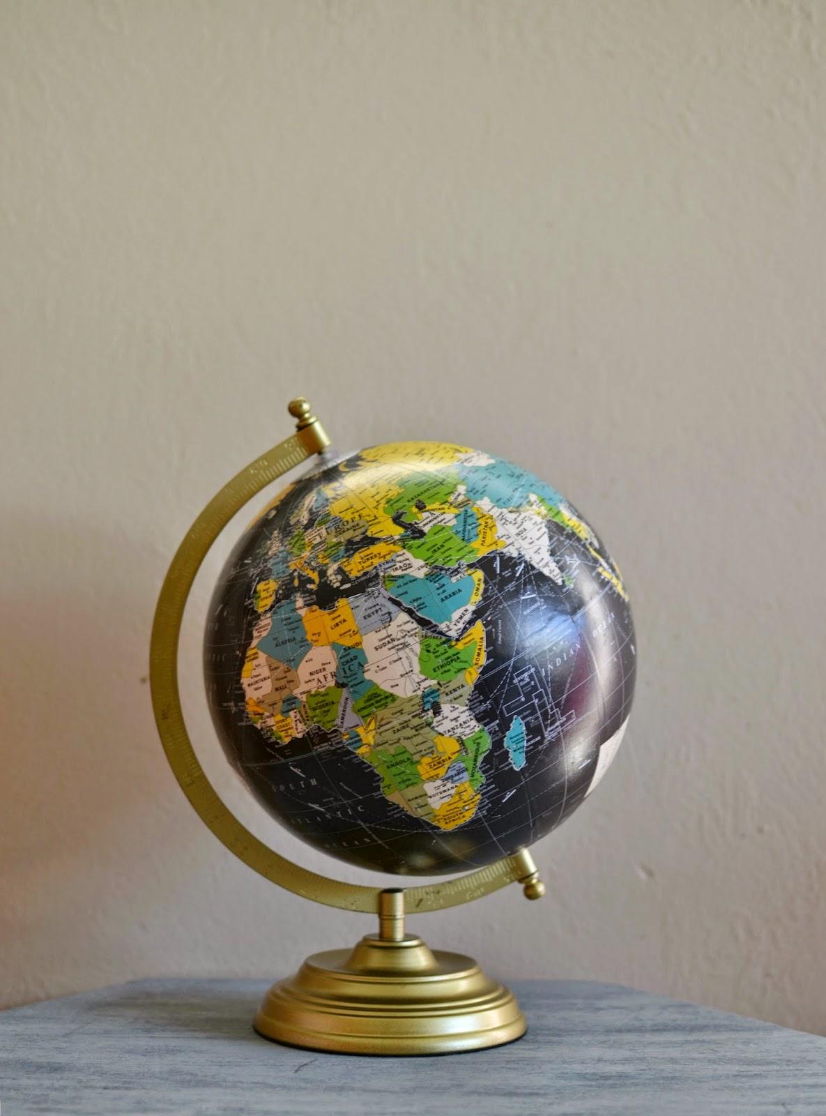 Mommy Testers, chalkboard globe, DIY chalkboard globe, chalkboard paint globe, Pottery Barn Kids globe, Pottery Barn Kids copycat