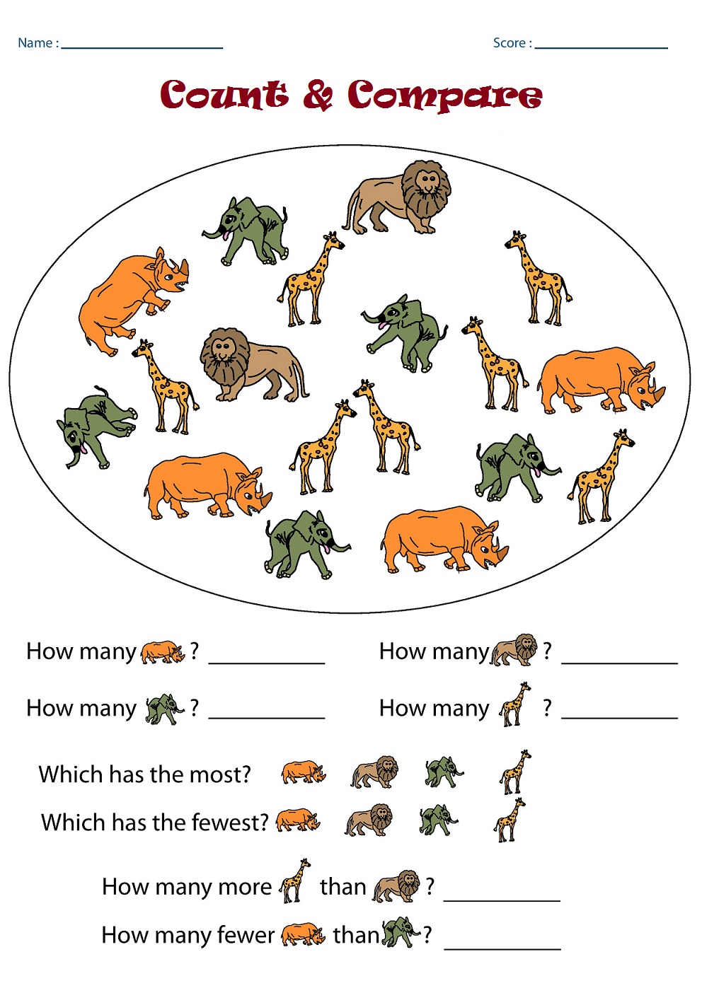 Kindergarten Worksheets: Kindergarten Math Worksheets - Counting ...