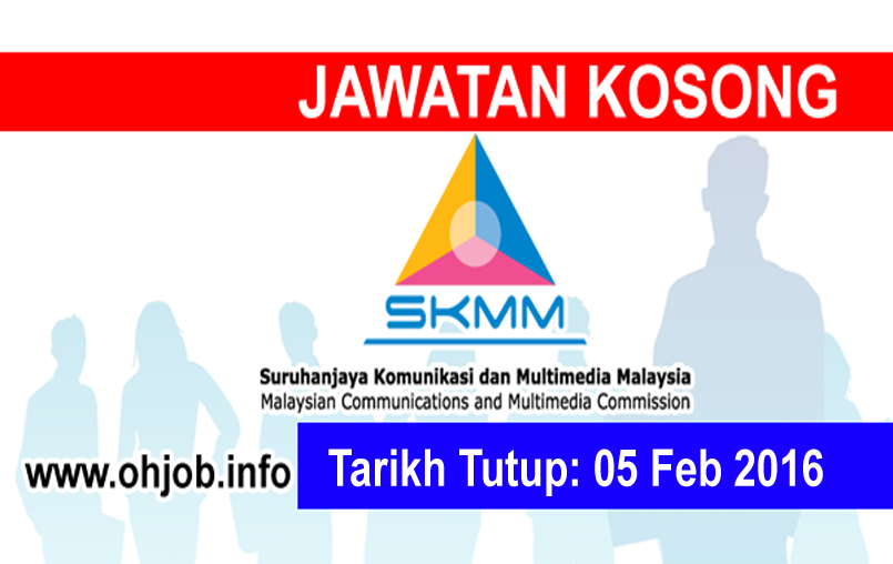 Jawatan Kerja Kosong Suruhanjaya Komunikasi Dan Multimedia Malaysia (SKMM) logo www.ohjob.info februari 2016