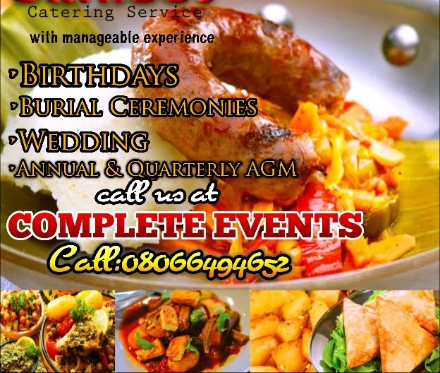 Call COMPLETE EVENTS FOR YOUR OCASSION