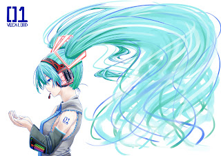 Hatsune Miku Vocaloid Anime Girl Headset  HD Wallpaper Desktop PC Background