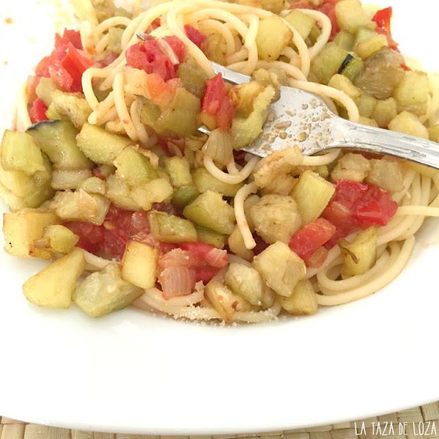 Berenjenas con pasta