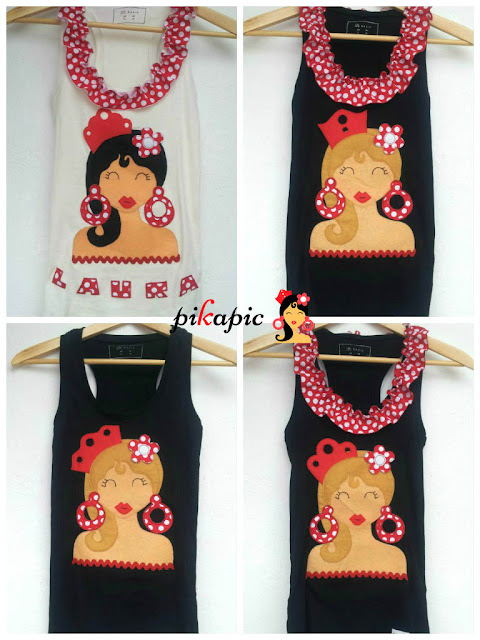 Camisetas flamencas para despedida de soltera